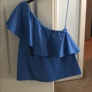 NWT Alice + Olivia One-Shoulder Top